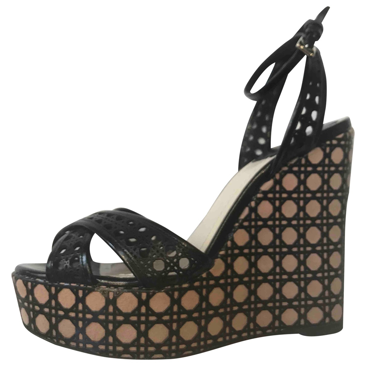 Dior \N Black Leather Sandals for Women 36 IT
