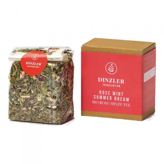 """Tee Dinzler Kaffeerosterei """"Rose Mint Summer Dream"""", 50 g"""