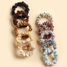10 Stuecke Einfarbiges Haarband