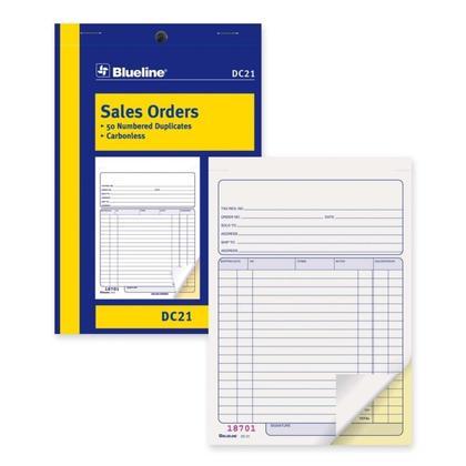 Commandes Blueline@ vente Carbonless Copy - duplicate,5-3/8 x 8