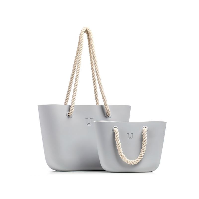Jordan&Judy 6.3L 11.4L Silicone Beach Handbag Women Shoulder Storage Bag Tote Outdoor Travel