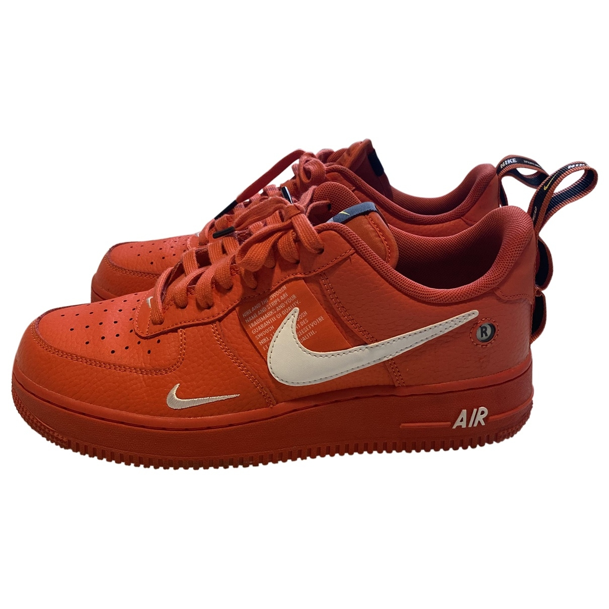 Nike Air Force 1 Sneakers in  Orange Leder
