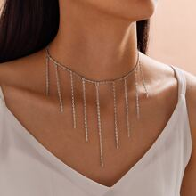 1pc Chain Tassel Charm Necklace