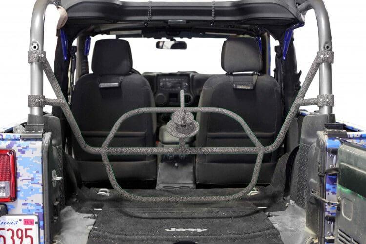 Steinjager J0045502 Tire Carrier Wrangler JK 2007-2018 2 Door Internal Gray Hammertone