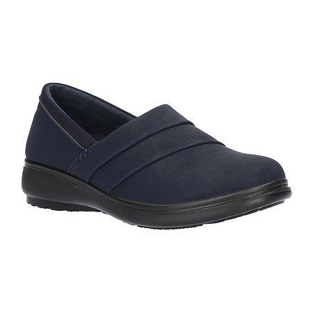 Easy Street Womens Maybell Slip-On Shoe, 8 Wide, Blue