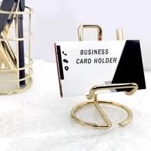 1pc Desktop Metal Business Card Holder
