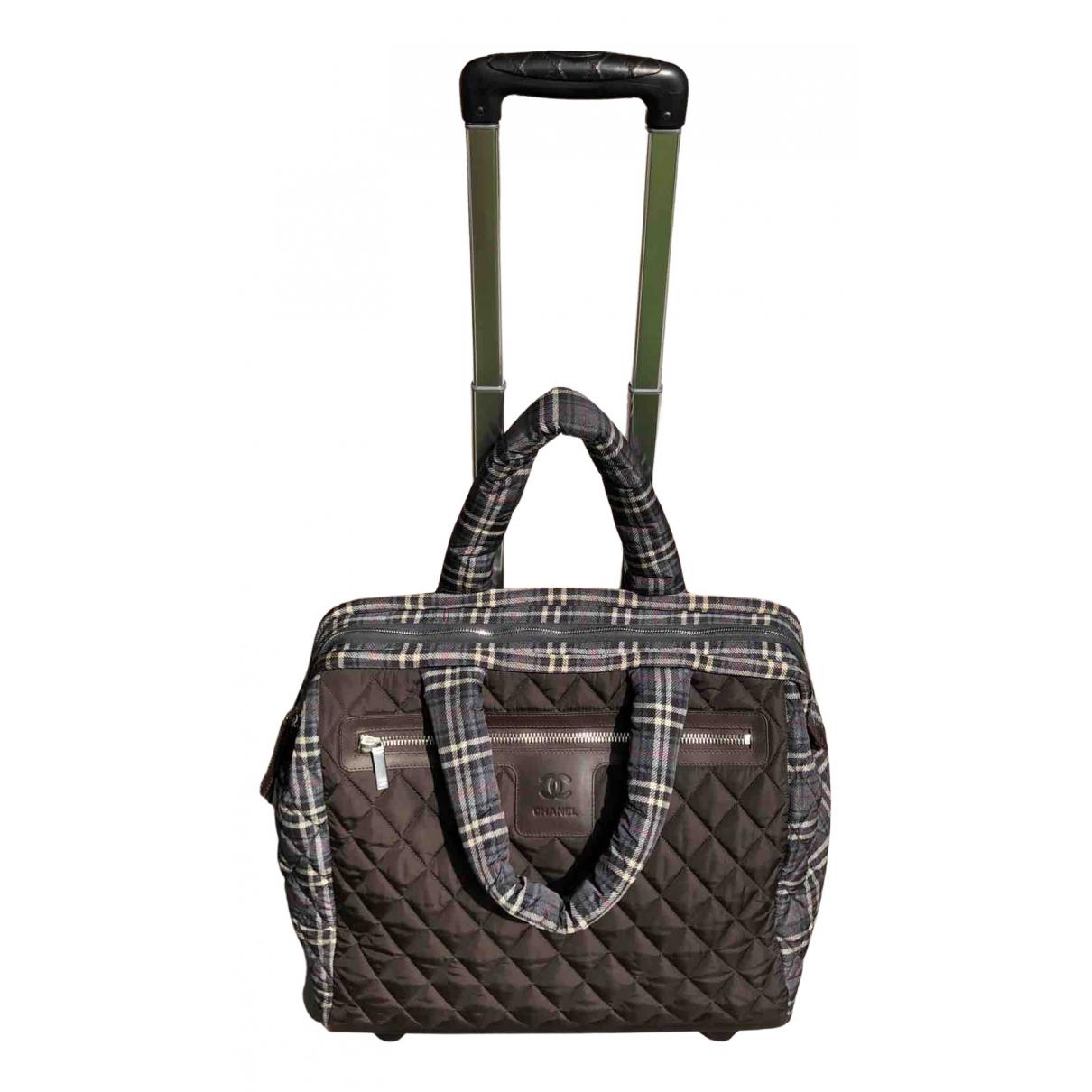 Chanel - Sac de voyage Coco Cocoon pour femme en toile - marron