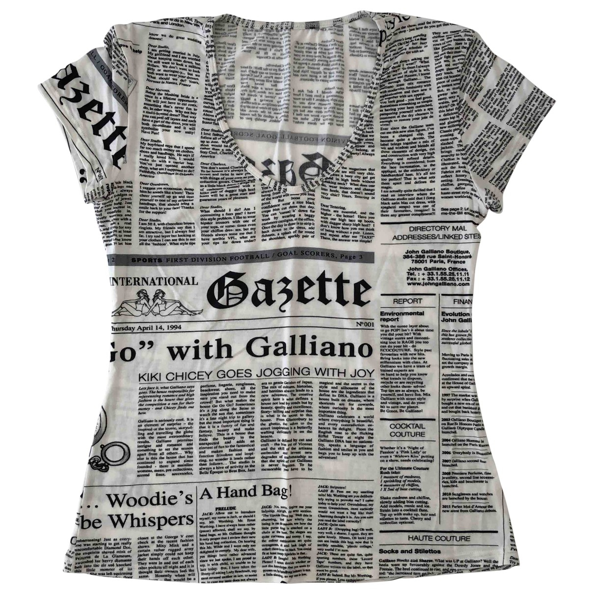 John Galliano \N Top in  Weiss Baumwolle