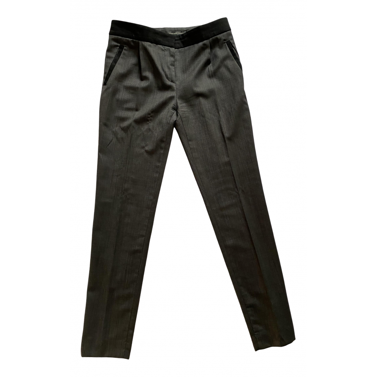 Balenciaga \N Anthracite Wool Trousers for Women 40 IT