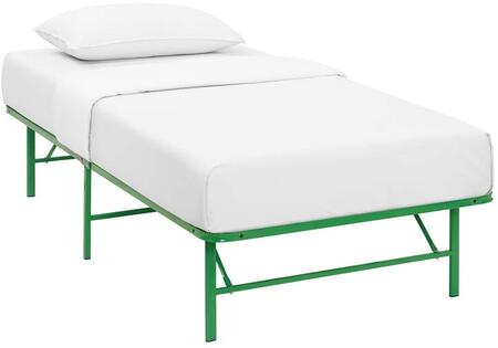 Horizon Collection MOD-5427-GRN Twin Size Platform Bed Frame with Non-Marking Foot Caps  Modern Style and Heavy Duty Stainless Steel Frame