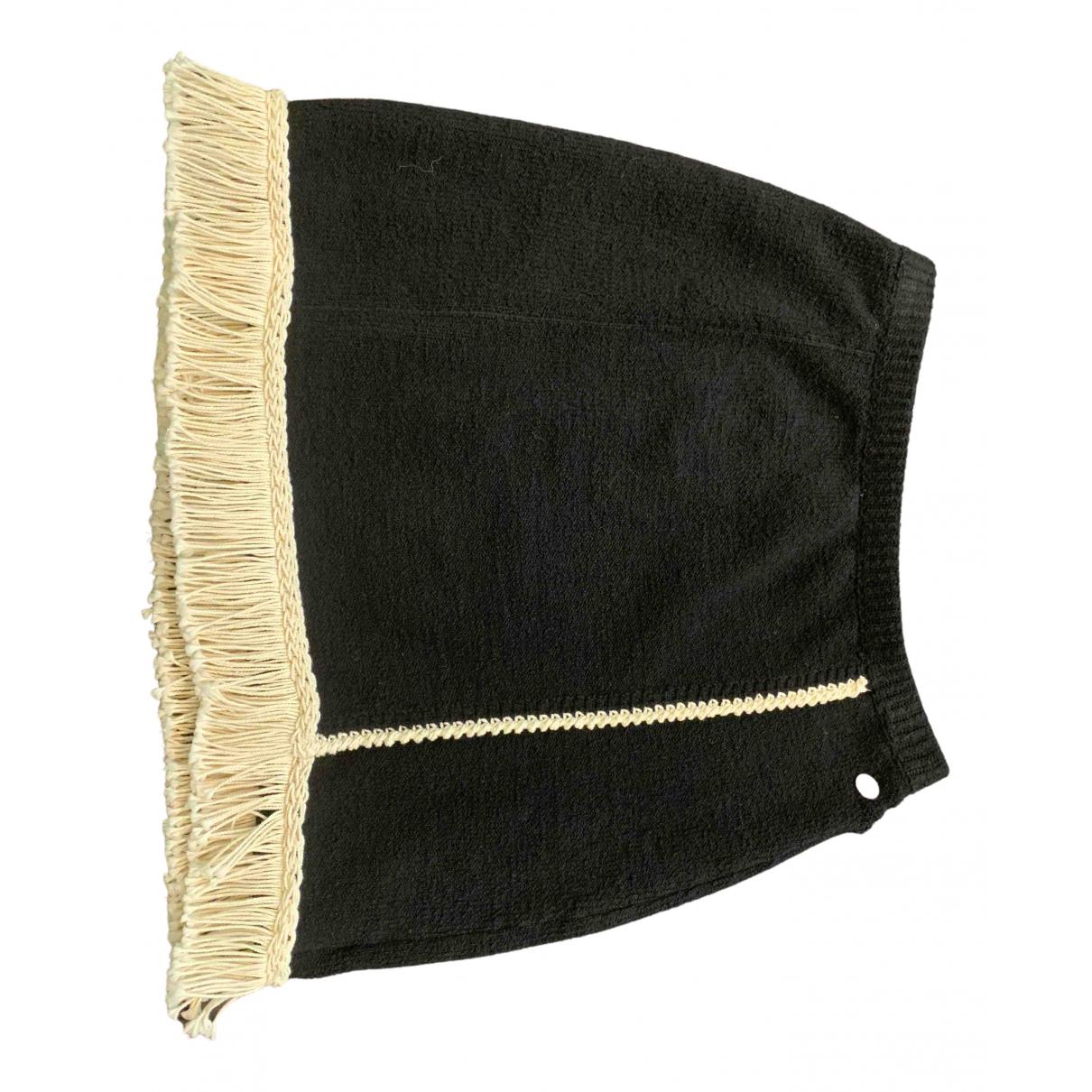 Chanel - Jupe   pour femme en coton - elasthane - noir