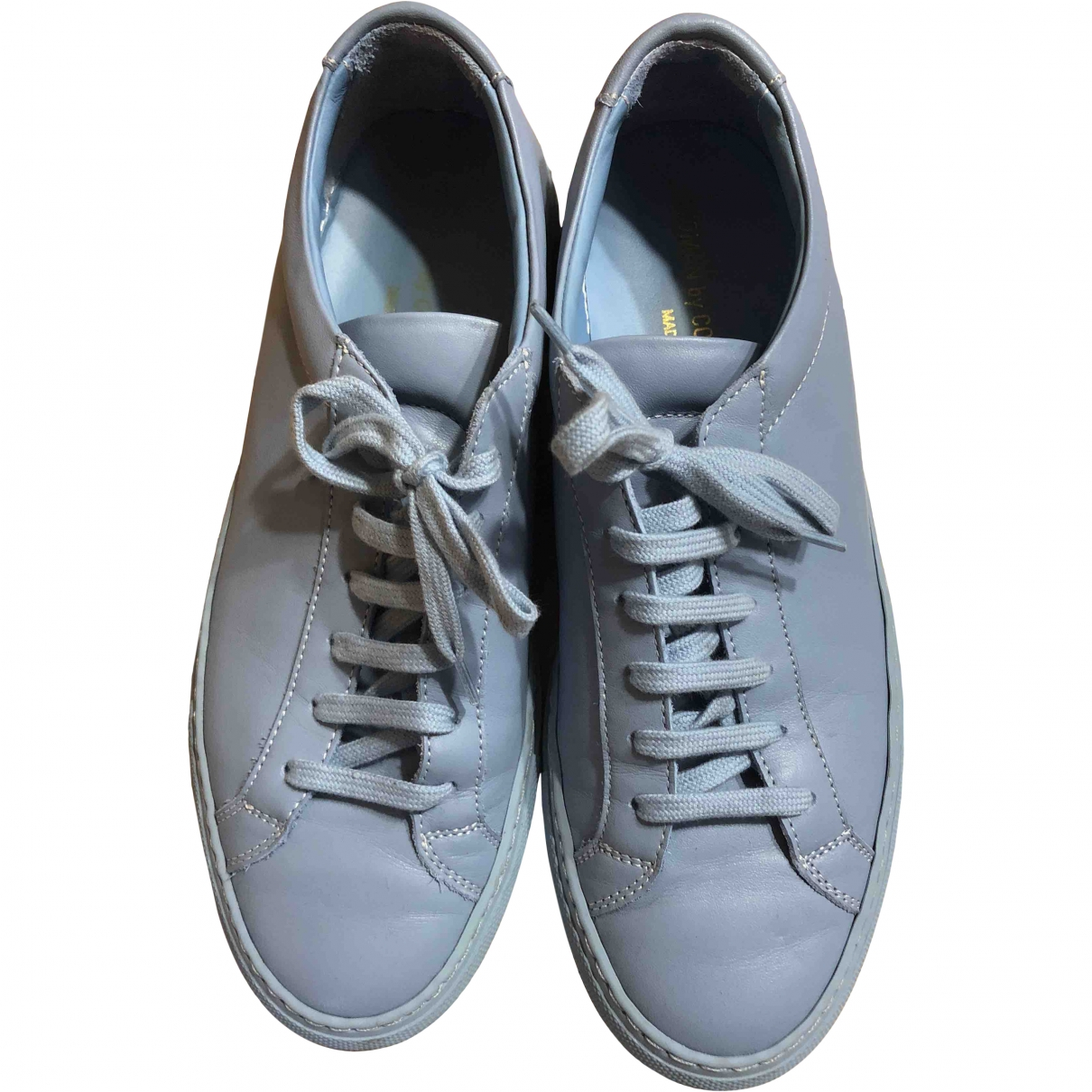 Common Projects \N Blue Leather Trainers for Women 38 EU