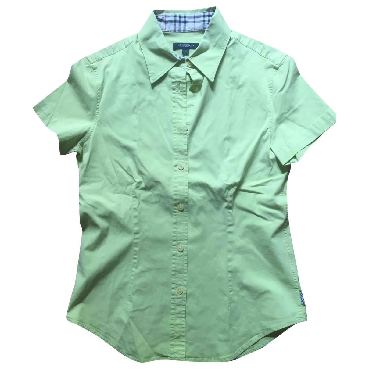 Burberry \N Green Cotton  top for Women 36 FR