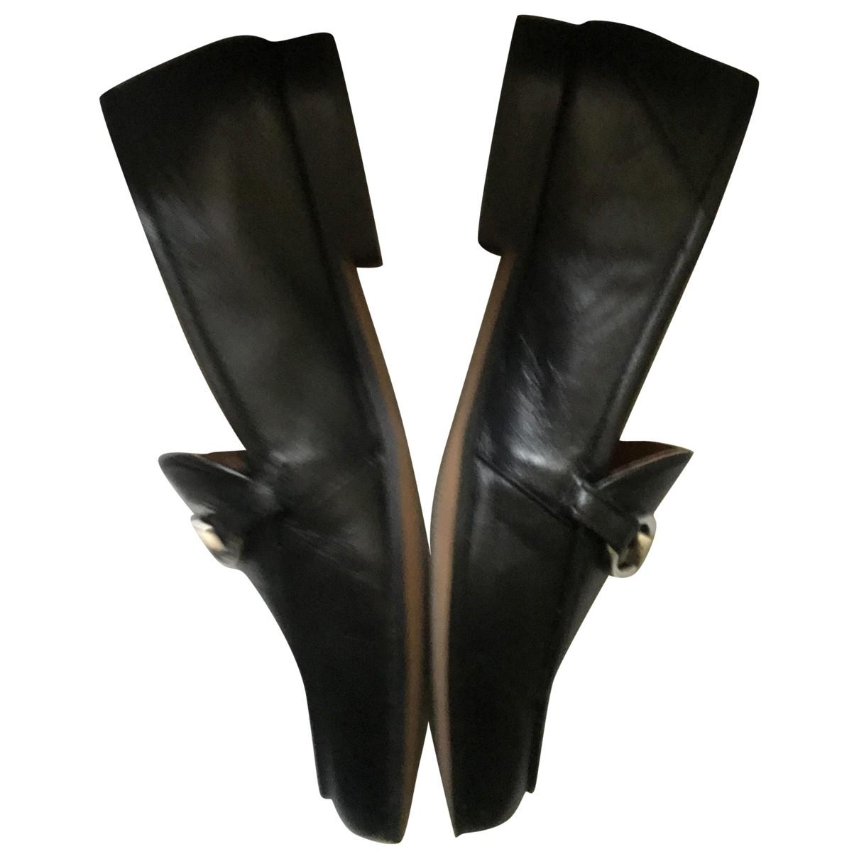 Mason \N Black Leather Flats for Women 37 EU
