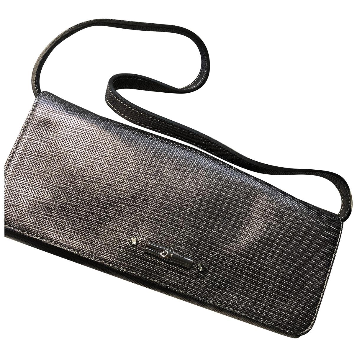 Longchamp - Pochette Roseau pour femme en metal - argente
