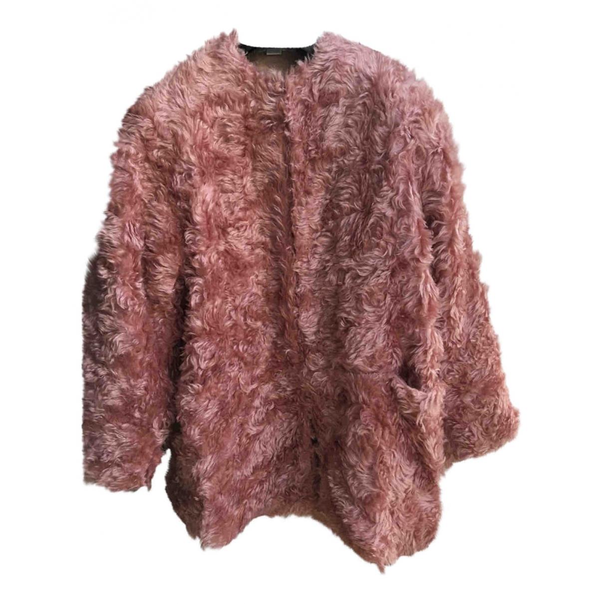 Stella Mccartney - Manteau   pour femme en fourrure synthetique - rose