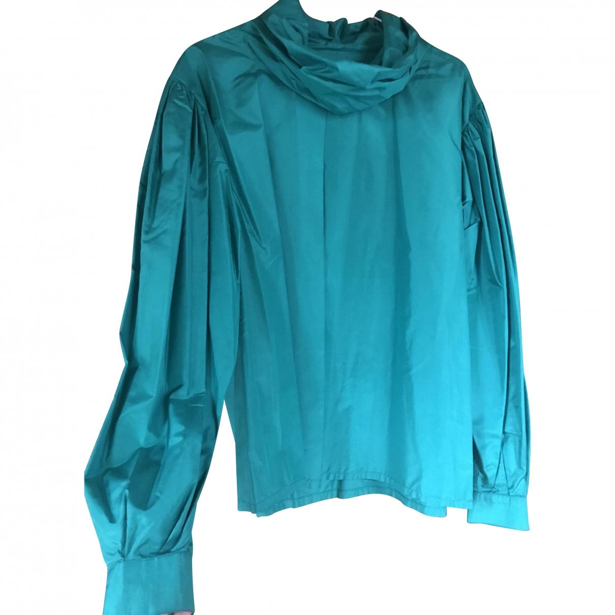 Georges Rech \N Green Silk  top for Women 40 FR