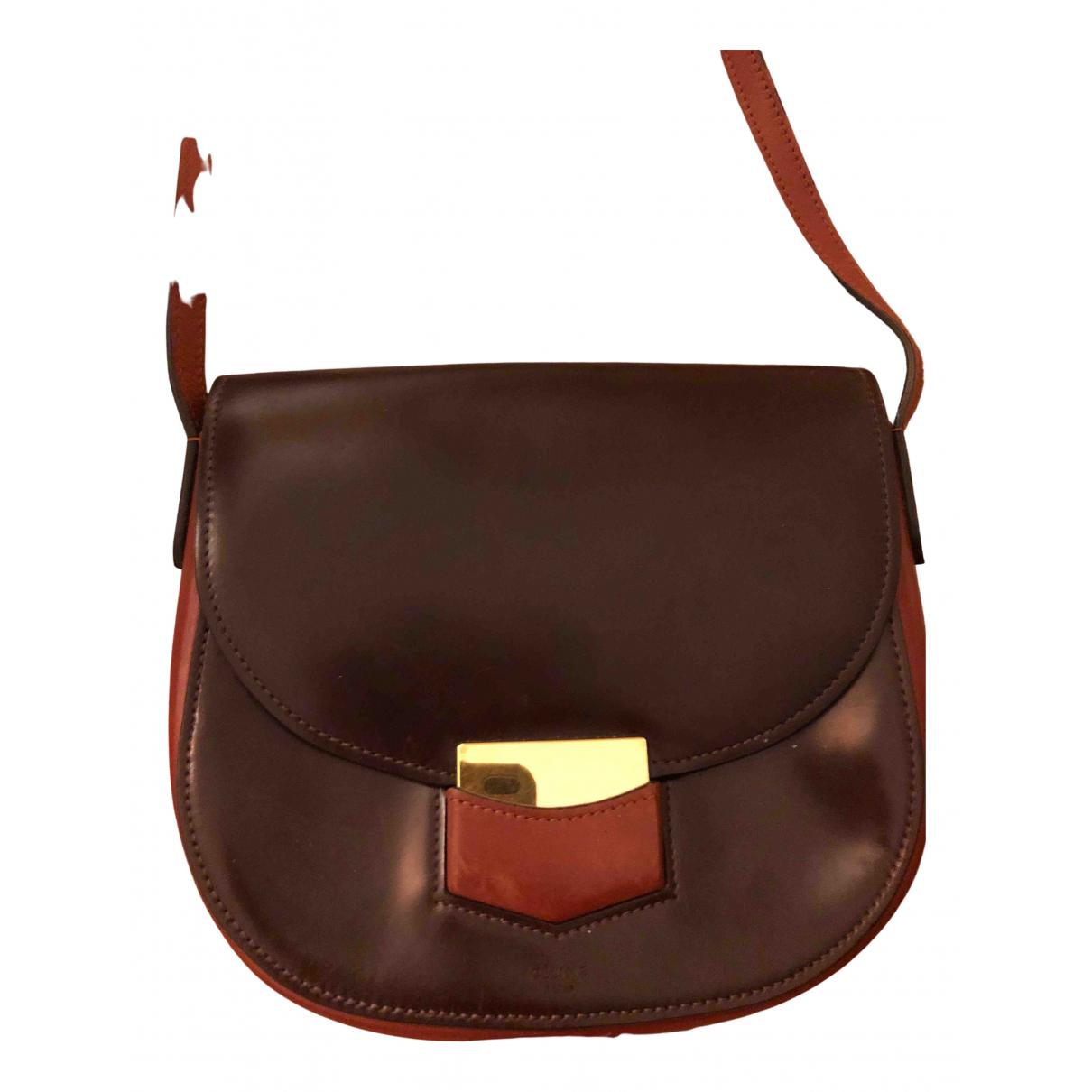 Celine Trotteur Handtasche in  Braun Leder