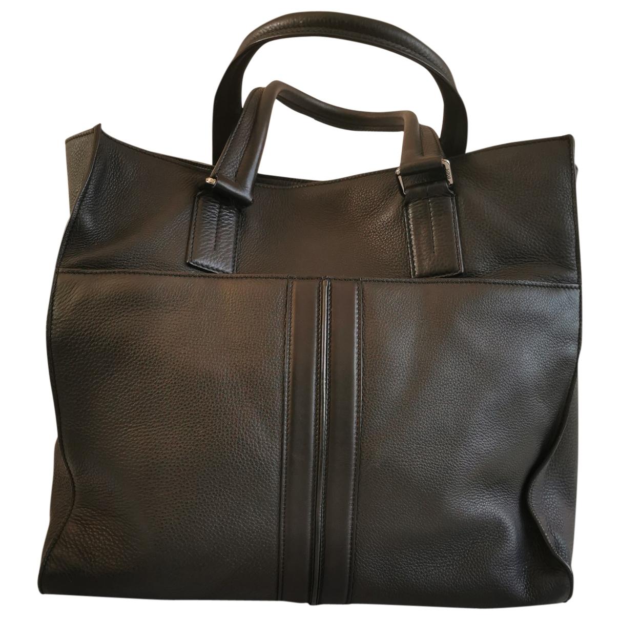 Tod's \N Black Leather bag for Men \N