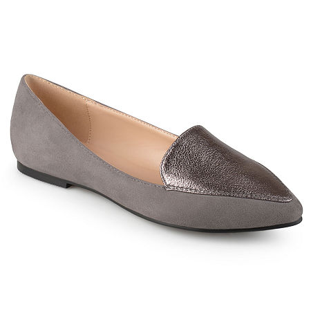 Journee Collection Womens Kinley Loafers, 6 1/2 Medium, Gray