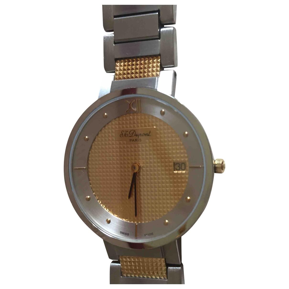 S.t. Dupont - Montre   pour homme en or et acier - multicolore