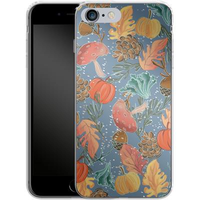 Apple iPhone 6 Plus Silikon Handyhuelle - Fall Woodland Blue von Mukta Lata Barua