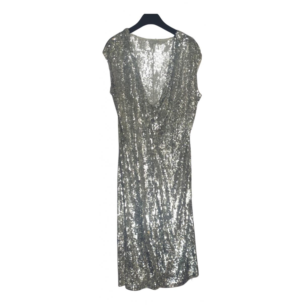 Marni \N Kleid in  Silber Baumwolle