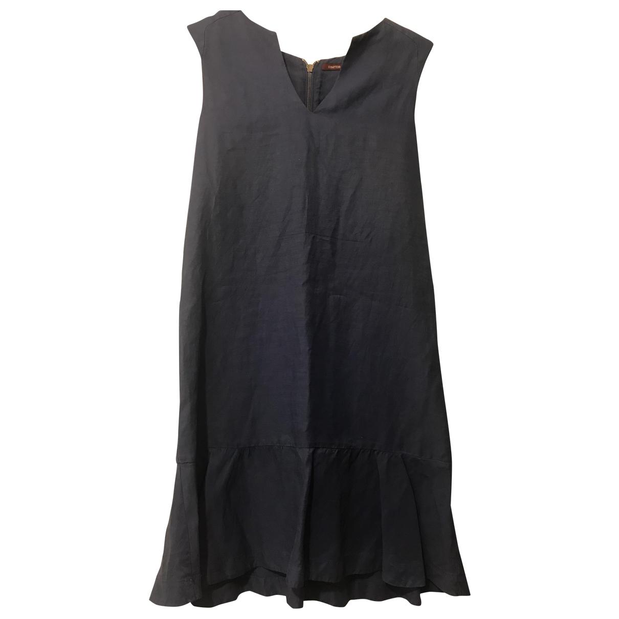 Comptoir Des Cotonniers \N Kleid in  Blau Leinen