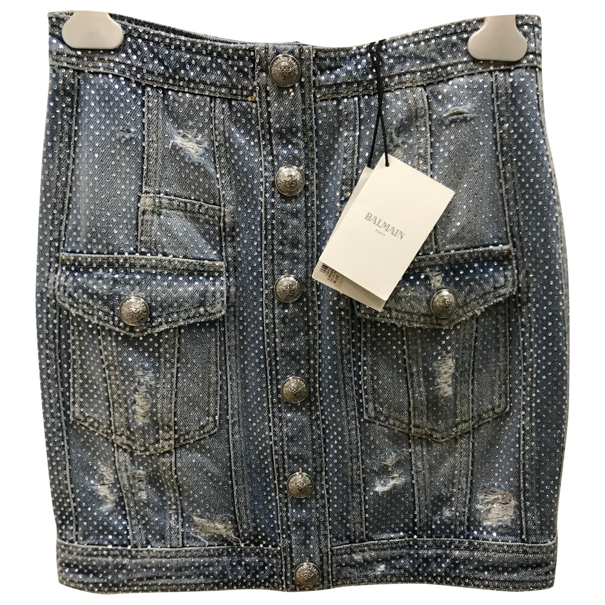 Balmain \N Rocke in  Blau Denim - Jeans