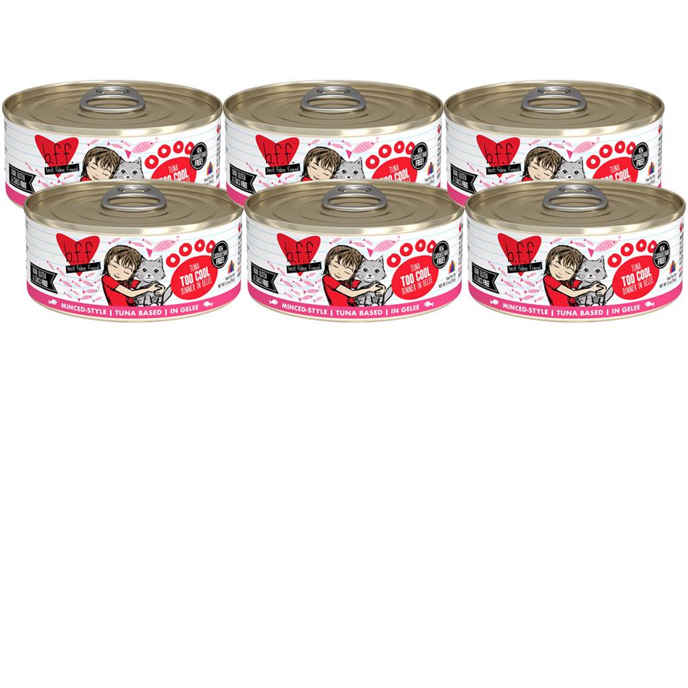 Weruva Best Feline Friend Canned Cat Food, Tuna Too Cool Recipe 6-Pack (33 oz)