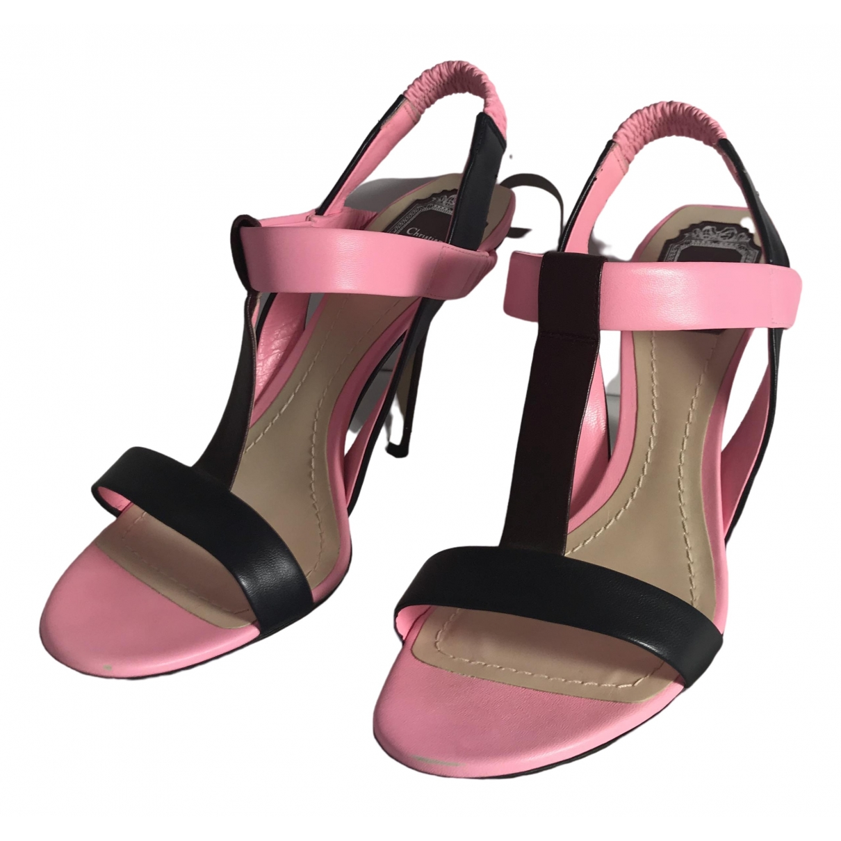 Dior \N Pink Leather Sandals for Women 39 EU