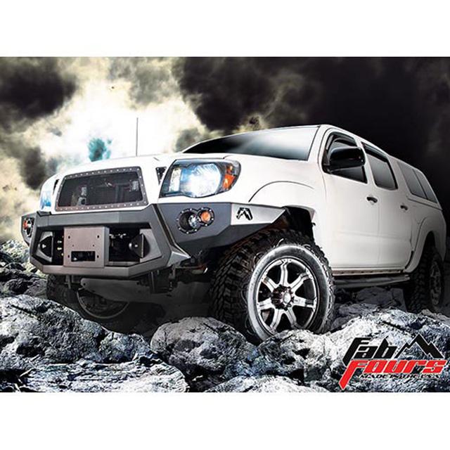 Fab Fours TT05-B1551-B 05-11 Toyota Tacoma Front Winch Bumper w/No Grill Guard Bare