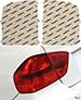 GMC Sierra 16-18 Red Tail Light Covers Lamin-X G218R