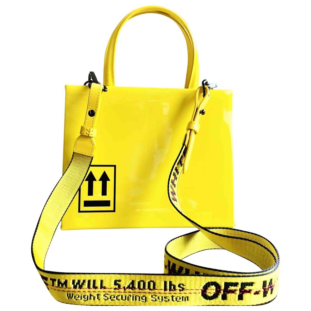 Off-white \N Handtasche in  Gelb Leder