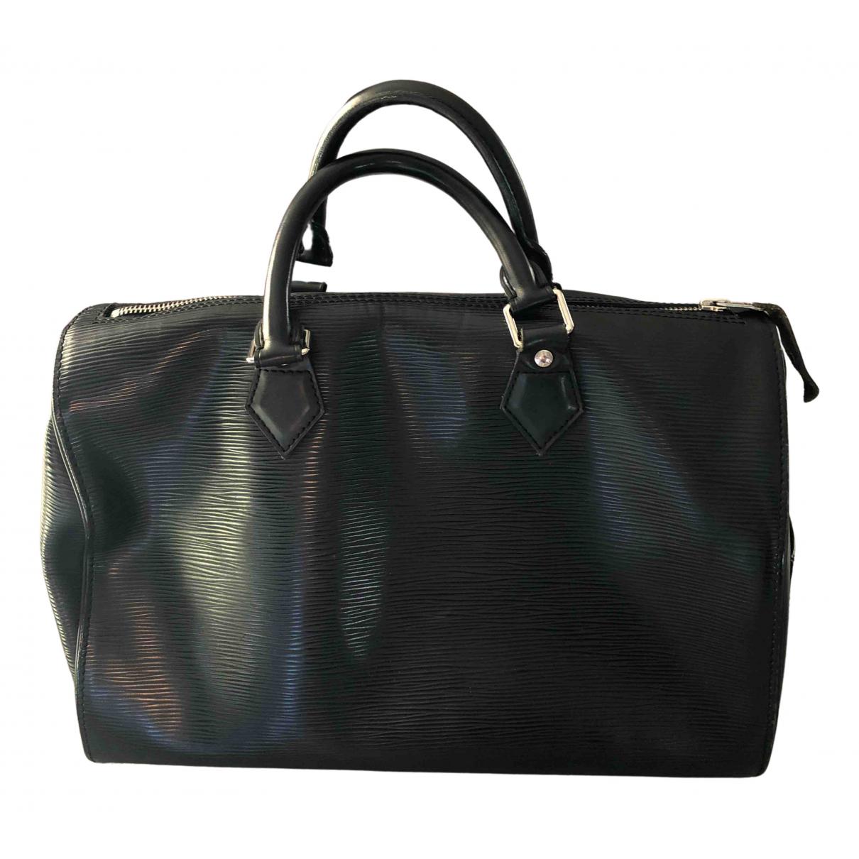 Louis Vuitton Speedy Handtasche in  Schwarz Leder