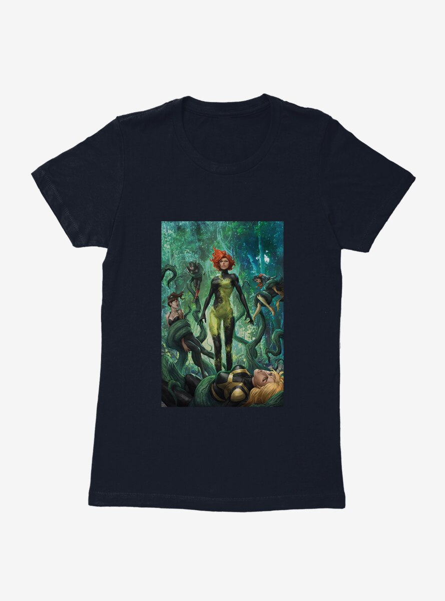 DC Comics Birds Of Prey Poison Ivy Death Grip Comic Art Womens T-Shirt