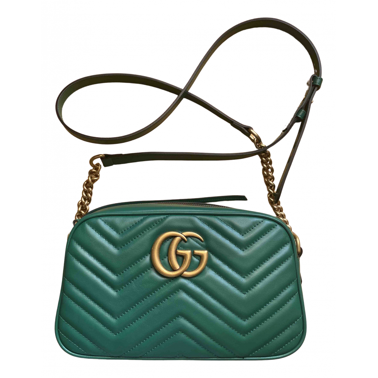 Gucci Marmont Green Leather handbag for Women \N