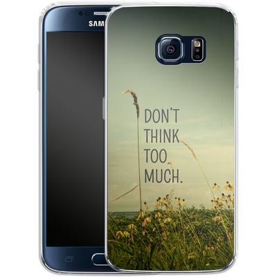 Samsung Galaxy S6 Silikon Handyhuelle - Travel Like A Bird Without Care von Joy StClaire