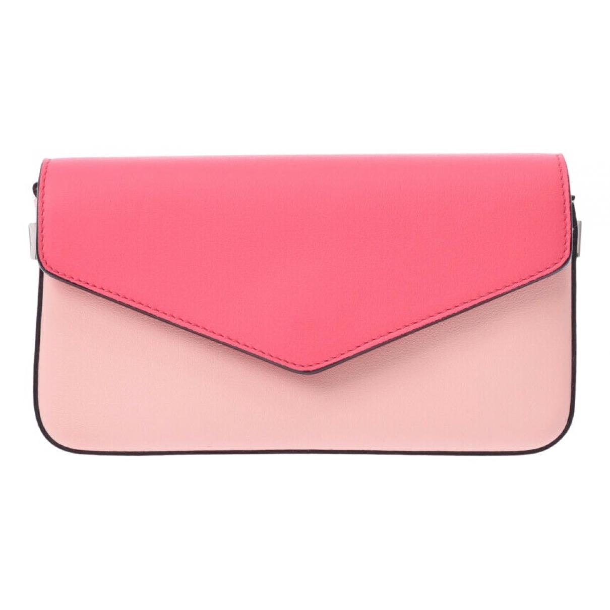 Dior - Pochette   pour femme en cuir - rose