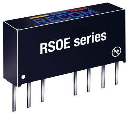 Recom RSOE 1W Isolated DC-DC Converter Through Hole, Voltage in 18 → 36 V dc, Voltage out 5V dc