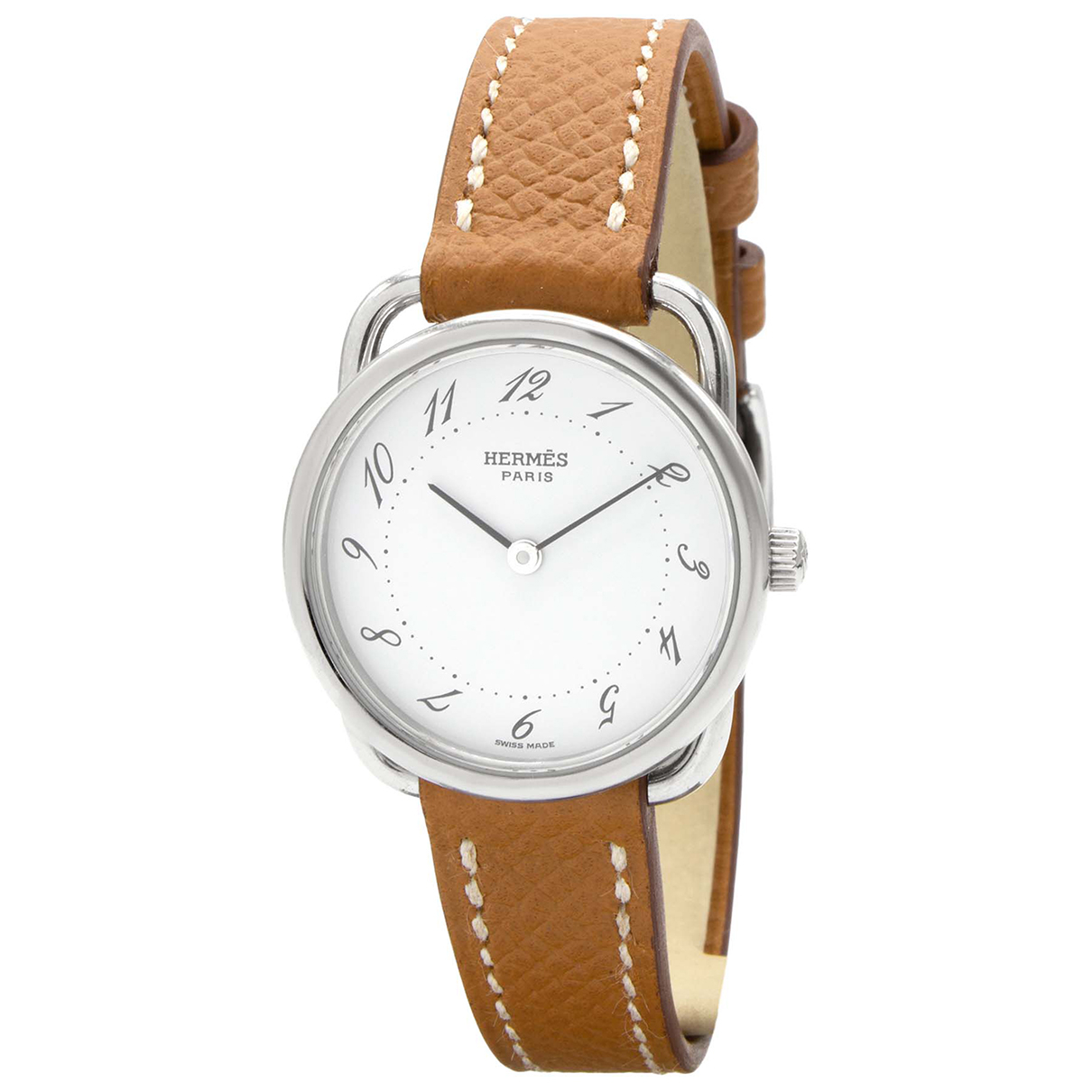 Hermès Arceau Silver Steel watch for Women \N