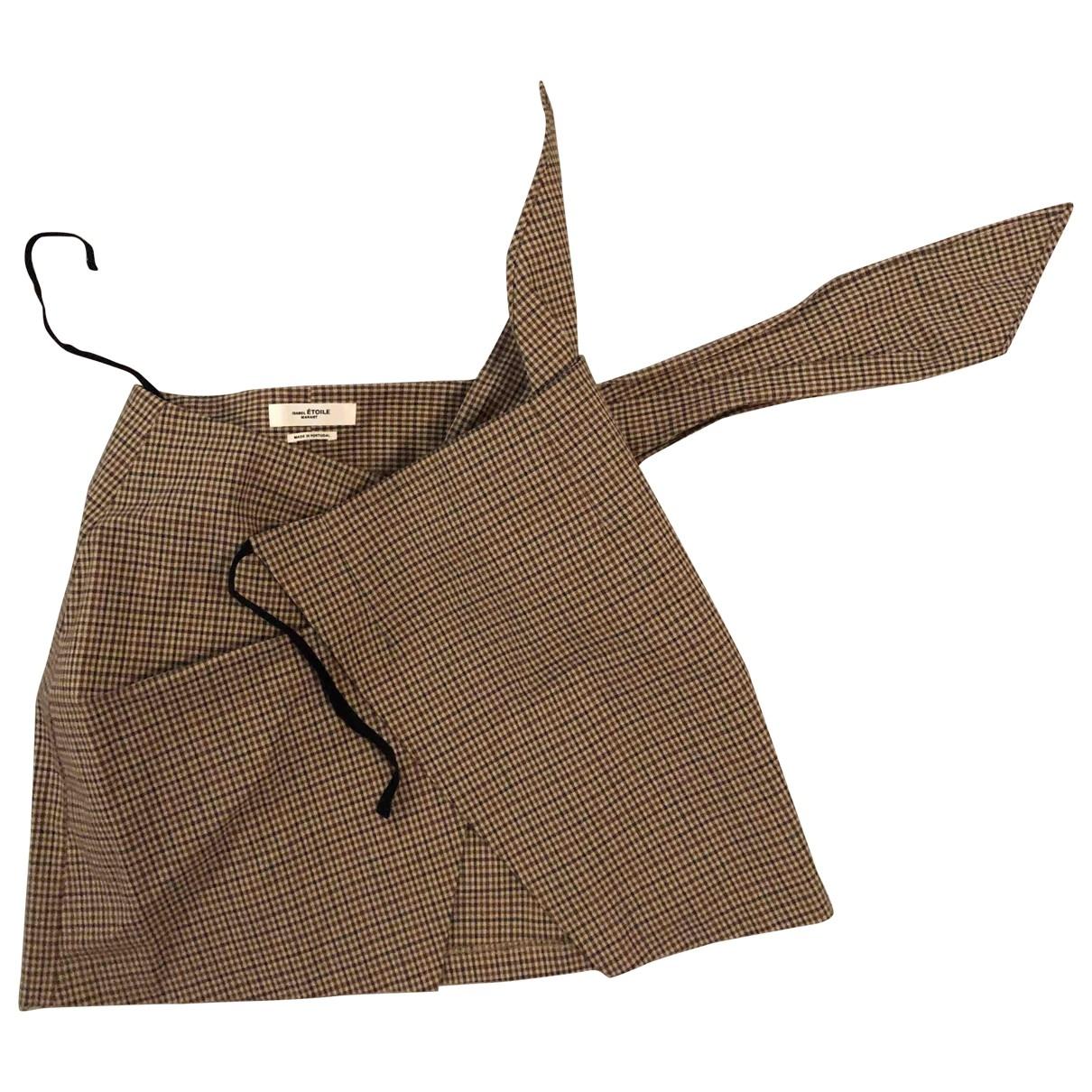 Isabel Marant Etoile - Jupe   pour femme en coton - elasthane - beige