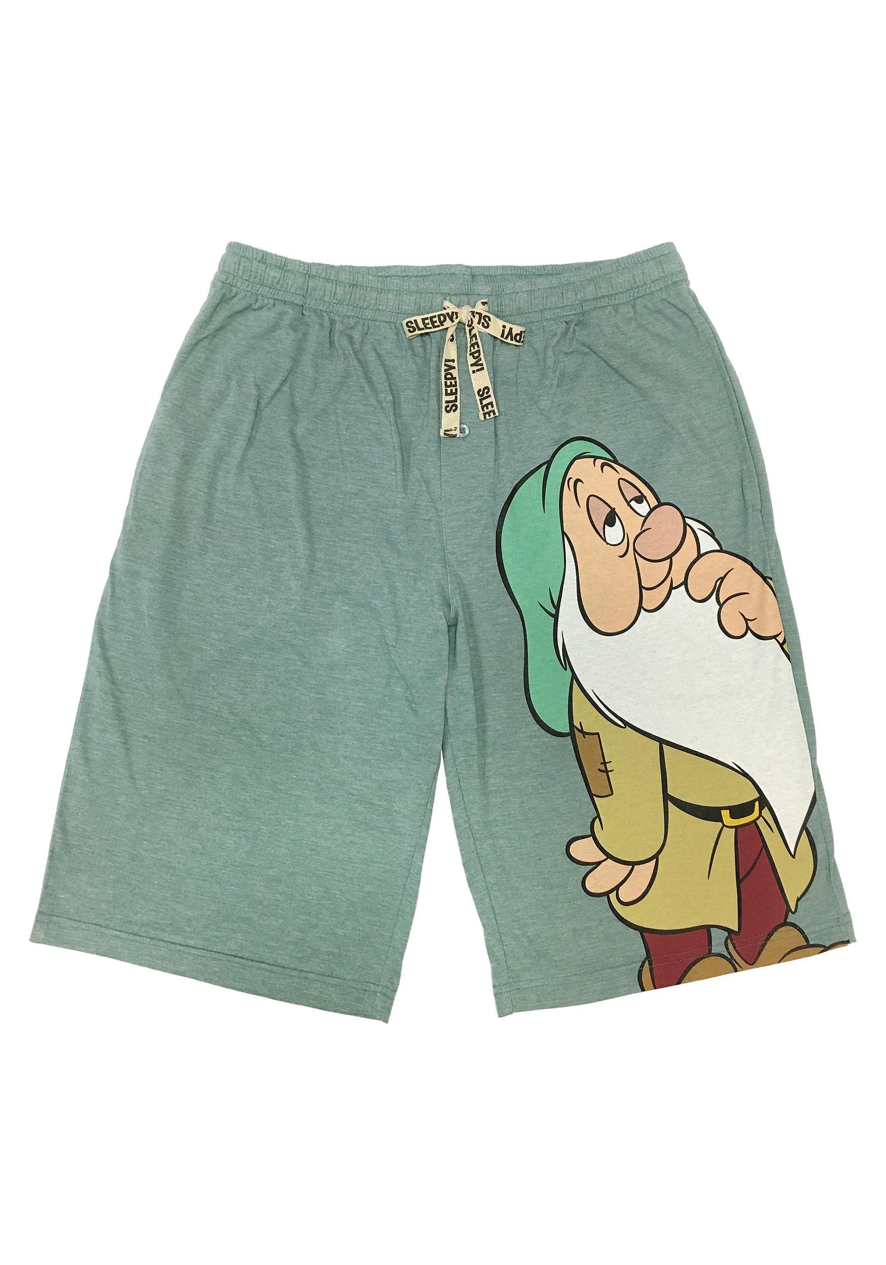 Seven Dwarfs Sleepy Drawstring Sleep Shorts for Men