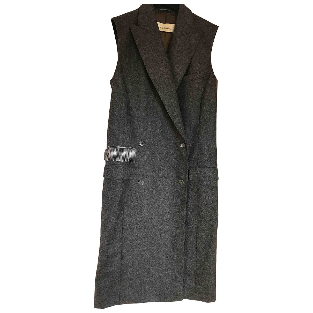 Paul Smith N Anthracite Wool coat for Women 42 FR