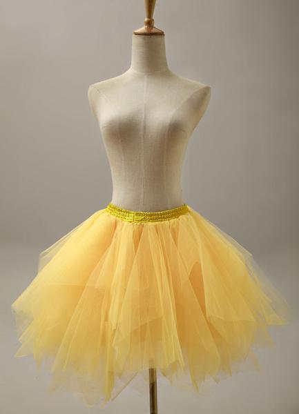 Milanoo Fashion Yellow Short Flare Slip Bridal Wedding Petticoat