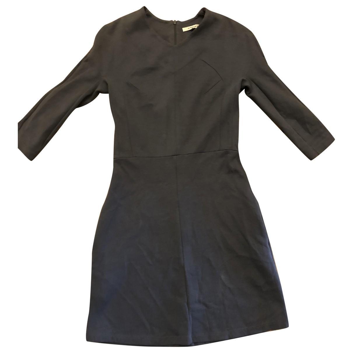 Carven - Robe   pour femme en coton - bleu