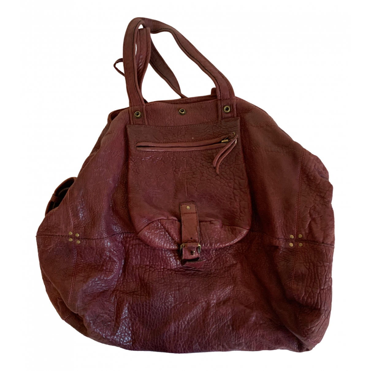 Jerome Dreyfuss Billy Burgundy Leather handbag for Women N