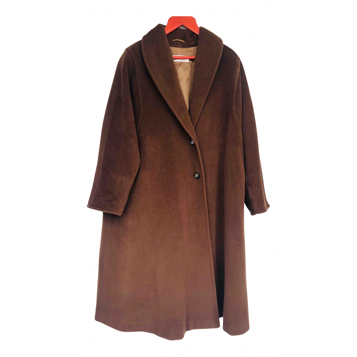 Max Mara 101801 Maentel in  Braun Wolle