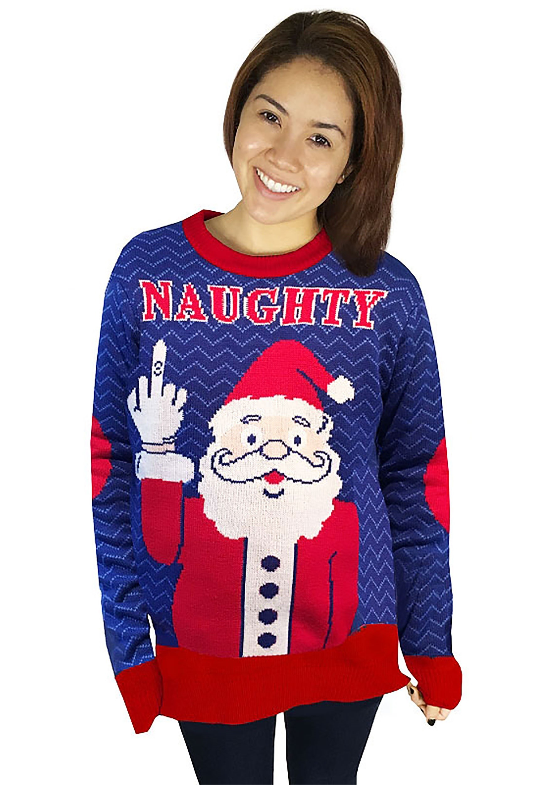 Naughty Santa Ugly Christmas Sweater for Adults