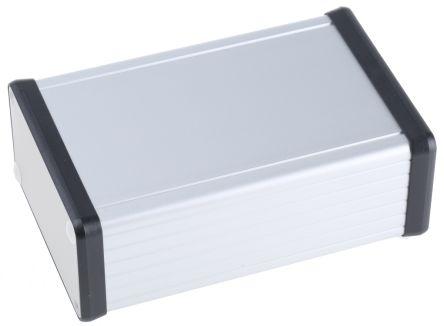 Hammond Unpainted Extruded Aluminium Handheld Enclosure, 120 x 78 x 43mm